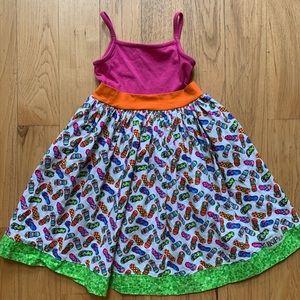 Kpea flip flops dress, size 8, VGUC